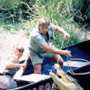 Terri Irwin and Steve Irwin in MGM's The Crocodile Hunter: Collision Course - 2002