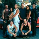 Back Row: Matt Schulze, Michelle Rodriguez, Vin Diesel, Paul Walker, Jordana Brewster, Rick Yune; Front: Chad Lindberg and Johnny Strong are Universal's The Fast and The Furious - 2001