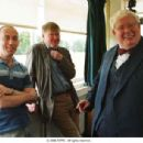 L-R: Director Nick Hytner, Writer Alan Bennett and Richard Griffiths on the set of THE HISTORY BOYS. Photo Credit: Alex Bailey