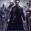 Keanu Reeves, Carrie-Anne Moss, Joe Pantoliano and Laurence Fishburne in Warner Brothers' The Matrix - 1999 - 253 x 349