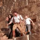 John Hannah, Rachel Weisz, Brendan Fraser and Freddie Boath in Universal's The Mummy Returns - 2001