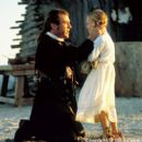 Benjamin Martin (Mel Gibson) bids a tearful farewell to his youngest child, Susan (Skye McCole Bartusiak), before setting off to join the Continental Army in the Columbia Pictures presentation, The Patriot - 2000