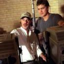 Director Rob Cohen and Joshua Jackson on the set of Universal's The Skulls - 2000