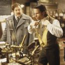 Mark Addy as David Philby and Guy Pearce as scientist and inventor Alexander Hartdegen in Dreamworks' and Warner Brothers' The Time Machine - 2002