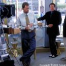 Mike Nichols (right) directs Garry Shandling (center) and Greg Kinnear (left) in Columbia's What Planet Are You From? - 3/2000
