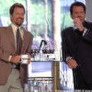 Harold (Garry Shandling, right) and Perry (Greg Kinnear) form a male bond in their search for women in Columbia's What Planet Are You From? - 3/2000
