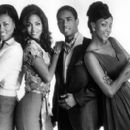 Lela Rochon, Halle Berry, Larenz Tate and Vivica A. Fox in Warner Brothers' Why Do Fools Fall In Love? - 9/1998