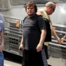 .Jack Black brought his band 'Tenacious D' to the Bank of America Pavilion in Boston, MA today