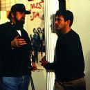 Director James Toback and Robert Downey Jr. on the set of Two Girls And A Guy