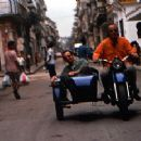 Ry Cooder drives his son Joachim around Havana, Cuba, during the making of Buena Vista Social Club - 350 x 231