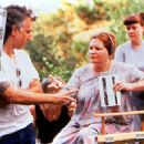 Co-writers and directors Kurt Voss and Allison Anders on the set of USA Films' Sugar Town - 1999