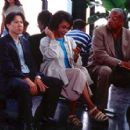 At the airport, Dwayne (Chi Muoi Lo), Dolores (Mary Alice) and Harold (Paul Winfield) anxiously await the arrival of Dwayne's birth mother in Iron Hill's Catfish in Black Bean Sauce - 2000