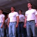 John Dietrich (Sam Trammell) with the rest of the recruits in Castle Hill's Followers - 2000