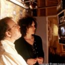 Director Amy Heckerling and first assistant director 'J.J.' Jeff Authors collaborate during the filming of Columbia's Loser - 2000