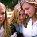 (Left to right) Leslie Hayman stars as Therese Lisbon, Kirsten Dunst stars as Lux Lisbon, A.J. Cook stars as Mary Lisbon, and Chelse Swain stars as Bonnie Lisbon in Paramount Classics' The Virgin Suicides - 2000
