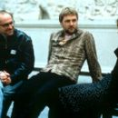 Director David Kane, David Morrissey and Jane Horrocks on the set of United Artists' Born Romantic - 2001