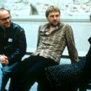 Director David Kane, David Morrissey and Jane Horrocks on the set of United Artists' Born Romantic - 2001