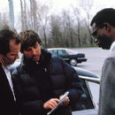 Hippolyte Girardot, director Joel Hopkins and Tunde Adebimpe in IFC Films' Jump Tomorrow - 2001