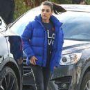 Mila Kunis in Blue Jacket – Out in Los Angeles - 454 x 681