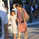 Halle Berry takes her daughter Nahla Aubry to the Grove in Los Angeles, California on June 17, 2016 - 454 x 545