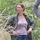 Anne Hathaway on the set for 'The Last Thing He Wanted' in San Juan