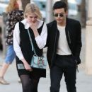 Lucy Boynton with boyfriend on Rodeo Drive in Beverly Hills