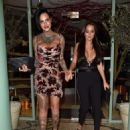 Jemma Lucy and Yazmin Oukhellou – Leaving San Carlo Restaurant in Manchester - 454 x 596