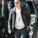 Nick Jonas is spotted out in New York City, New York on April 15, 2016