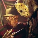 "(left to right) Robert Englund as ""Freddy Krueger"" and Ken Kirzinger as ""Jason"" in New Line Cinema's upcoming Freddy Vs. Jason."