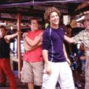 Brandon (Greg Siff, in red), Justin (Justin Guarini) and Eddie (Brian Dietzen) enjoy Spring Break in Miami (Background dancer at left Brandon Henschel).