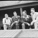 Jimmie Fox, Joe DiMaggio,  Lou Gehrig & Bill Dickey