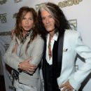 Steven Tyler & Joe Perry attend the ASCAP Press Conference at Sunset Marquis Hotel and Villas on April 8, 2013 in West Hollywood, CA