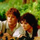 Sean Astin as Samwise and Elijah Wood as Frodo in New Line's The Lord of The Rings: The Fellowship of The Ring - 2001