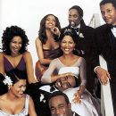 (top row) Sanaa Lathan, Melissa DeSousa, Harold Perrineau Jr., Terrence Howard, (center) Monica Calhoun, Morris Chestnut, (bottom) Nia Long and Taye Diggs The poster for Universal's The Best Man - 10/99