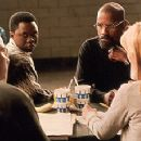 Liev Schreiber, Vicellous Shannon, Denzel Washington and Deborah Unger in Universal's The Hurricane - 1999