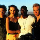 Stefano Dionisi, Saffron Burrows, Rodney Charles and Julian Sands in The Loss Of Sexual Innocence