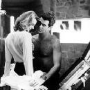 Serena Scott Thomas and Pierce Brosnan in MGM's The World Is Not Enough - 11/99