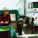 Richard Farnsworth, driving from Iowa to Wisconsin on a John Deere lawnmower in Disney's The Straight Story - 10/99 - 350 x 152