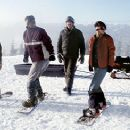 Zach Galifianakis, Flex Alexander, David Denman, A.J. Cook and Jason London in Touchstone's Out Cold - 2001