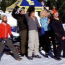 Zach Galifianakis, David Denman, Jason London, Victoria Silvstedt and Derek Hamilton in Touchstone's Out Cold - 2001
