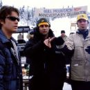Jason London, Brendan Malloy and Emmett Malloy on the set of Touchstone's Out Cold - 2001