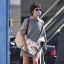 Selma Blair – In chic sweater dress shopping candids in Studio City