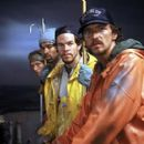 William Fichtner, Allen Payne, Mark Wahlberg and John Hawkes in Warner Brothers' The Perfect Storm - 2000