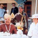 Kulbhushan Kharbanda, Javed Khan and Rachel Shelley in Sony Pictures Classics' Lagaan - 2002