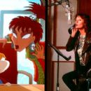 Left - Angelica Pickles and Coco LaBouche Right - Susan Sarandon recording the voice of Coco in Paramount's Rugrats in Paris - The Movie - 2000