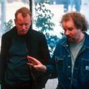 Stellan Skarsgard and director Mike Figgis in Screen Gems' Time Code - 3/2000