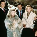 Christian Bale, Reese Witherspoon, Justin Theroux, Samantha Mathis and Matt Ross in Lions Gate's American Psycho - 2000