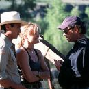 Lou Diamond Phillips, Dina Meyer and director Louis Morneau on the set of BATS - 10/99