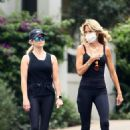 Reese Witherspoon – With her yoga teacher in Brentwood