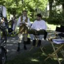 Director Clark Gregg on the set with Brad William Henke Photo Credit: Jessica Miglio - 454 x 302